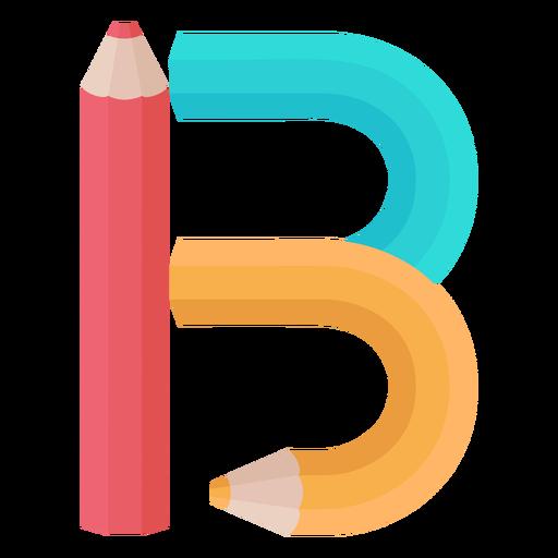 Pencils decor alphabet b Transparent PNG