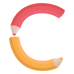 Alfabeto de decoração de lápis c