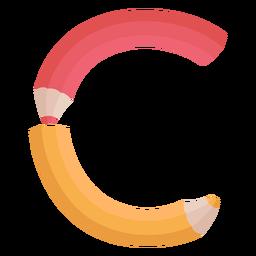 Lápis decoração alfabeto c