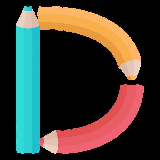 Lápis decoração alfabeto d Transparent PNG