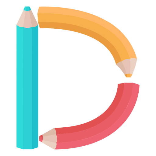 Pencils decor alphabet d Transparent PNG