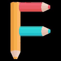 Lápis decoração alfabeto f