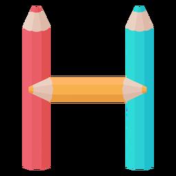 Lápices decoración alfabeto h