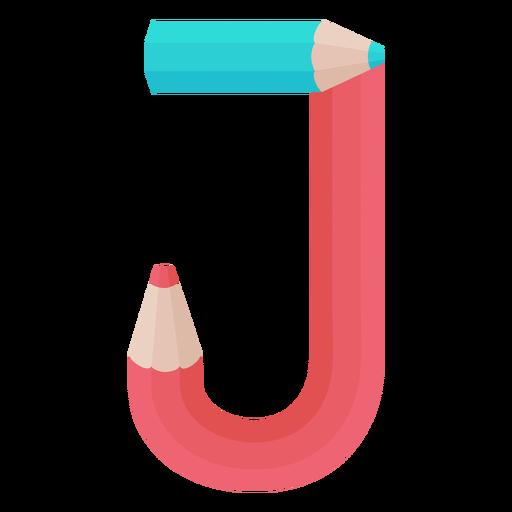 Lápis decoração alfabeto j Transparent PNG