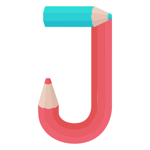 Pencils decor alphabet j Transparent PNG