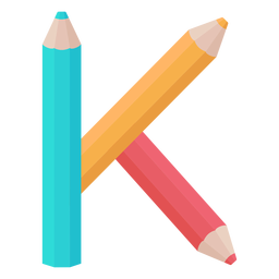 Lápices decoración alfabeto k