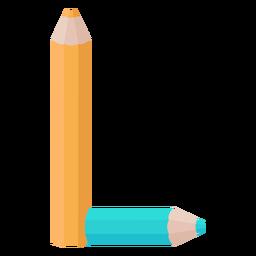 Bleistifte Dekor Alphabet l