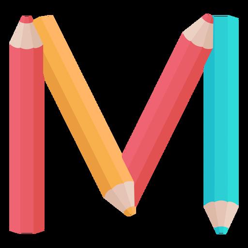 Pencils decor alphabet m Transparent PNG