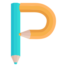 Bleistifte Dekor Alphabet p