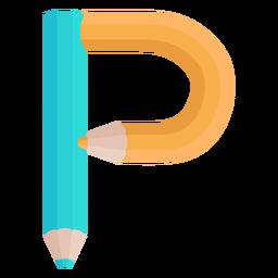Lápis decoração alfabeto p