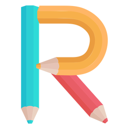 Lápices decoración alfabeto r