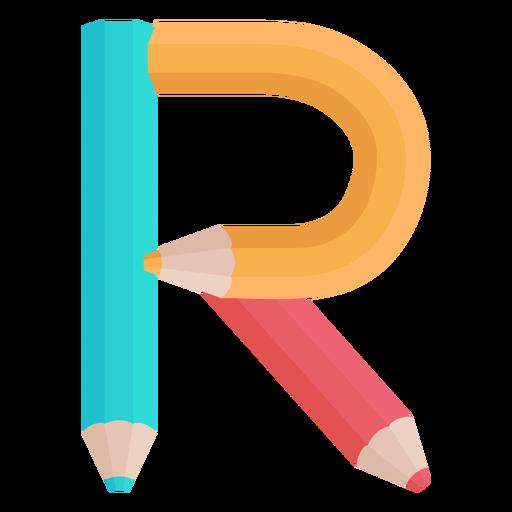 Lápis decoração alfabeto r Transparent PNG
