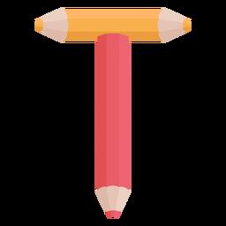Pencils decor alphabet t