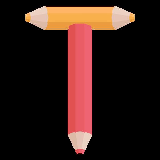 Lápis decoração alfabeto t Transparent PNG