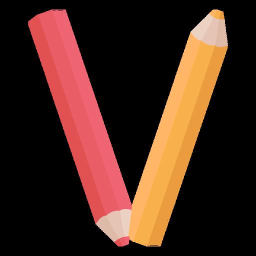 Alfabeto de decoração de lápis v Transparent PNG