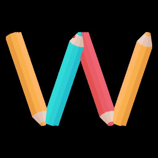 Lápis decoração alfabeto w Transparent PNG