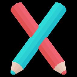 Alfabeto de decoração de lápis x