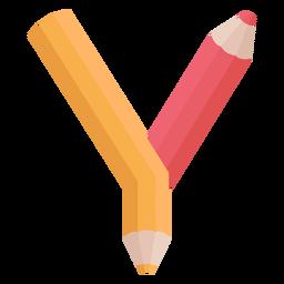 Alfabeto de decoração de lápis y