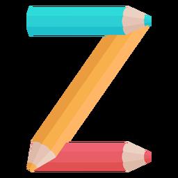 Lápis decoração alfabeto z
