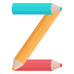 Pencils decor alphabet z