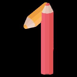 Lápis decoração número 1