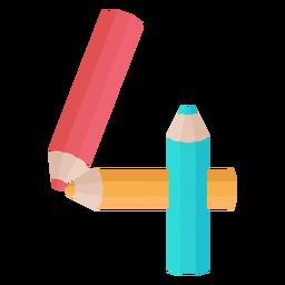Lápis decoração número 4