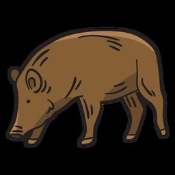 Porco raça nativa Suécia ilustração