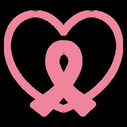 Ilustración de corazón de cinta rosa