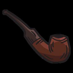 Fumar pipa tabaco ilustración irlanda
