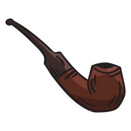 Pipe smoking tobacco ireland illustration