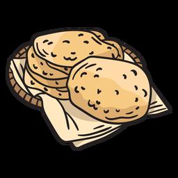 Ilustración de comida israelí de pan de pita