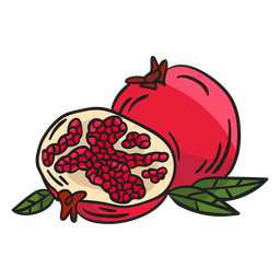 Pomegranate fruit food illustration