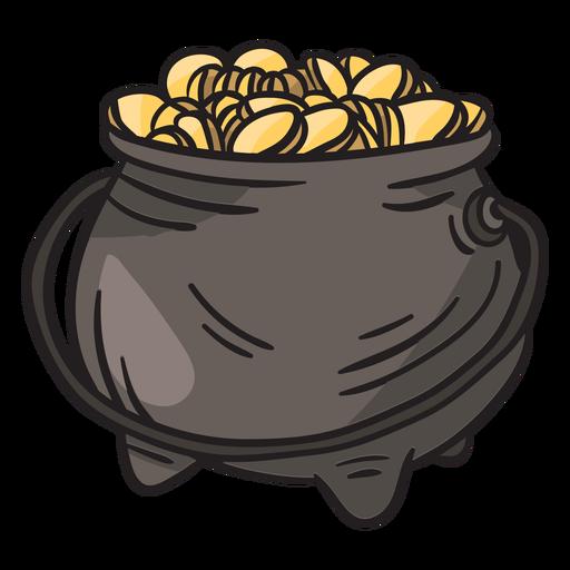 Pot gold leprechaun irish illustration Transparent PNG