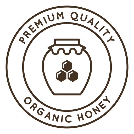 Pot honey honeycomb hexagon badge Transparent PNG