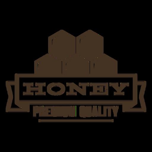 Premium quality honey honeycomb badge Transparent PNG