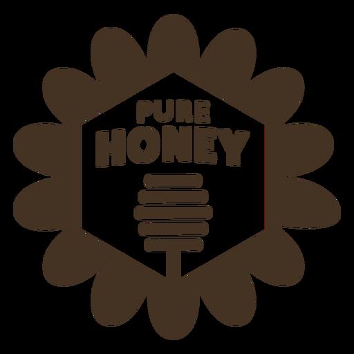 Pure honey dipper badge Transparent PNG