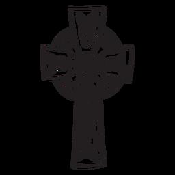 Curso de cruz celta de símbolo religioso