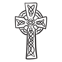 Religious symbol celtic cross stroke