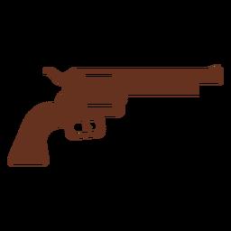 Ilustración de contorno de pistola revólver