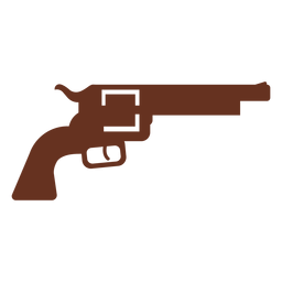 Revolver gun outline illustration