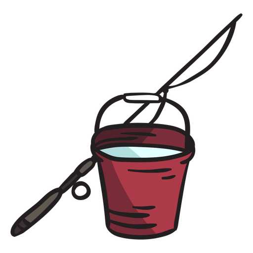 Rod bucket ice fishing illustration Transparent PNG