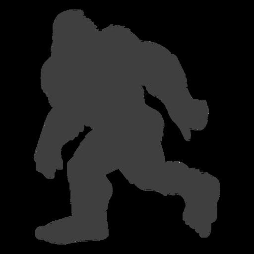 Running hairy bigfoot sasquatch black