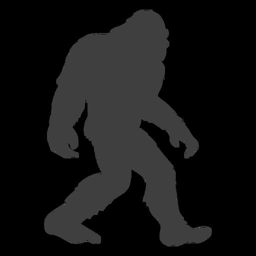 Sasquatch bigfoot flat negro Transparent PNG