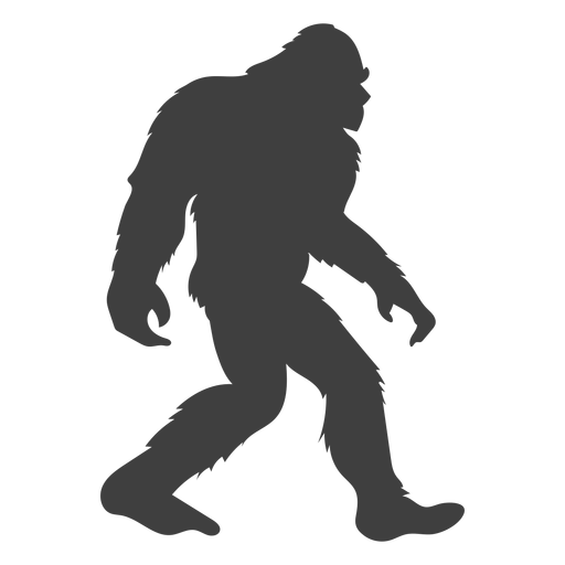 Sasquatch bigfoot preto liso Transparent PNG