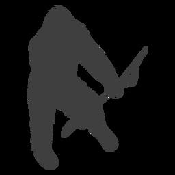 Sasquatch peludo criatura folclore preto