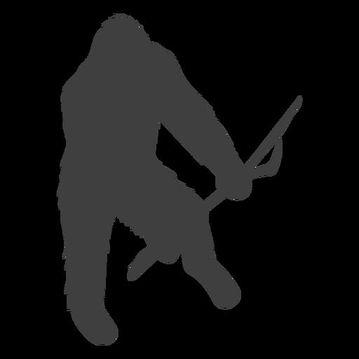 Sasquatch peludo criatura folklore negro Transparent PNG