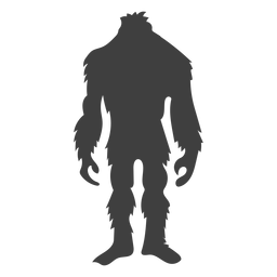 Sasquatch standing waiting black