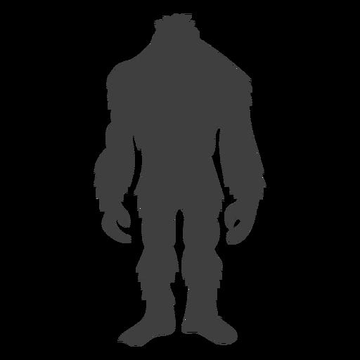 Sasquatch de pie esperando negro Transparent PNG