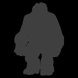 Shaggy peludo criatura pie grande negro