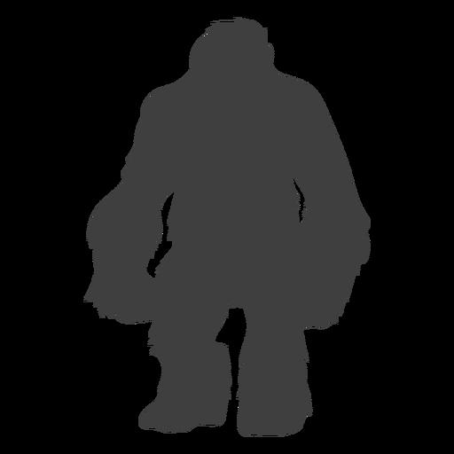 Shaggy peludo criatura pie grande negro Transparent PNG